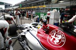 Marcus Ericsson, Sauber C37 Ferrari, op de grid