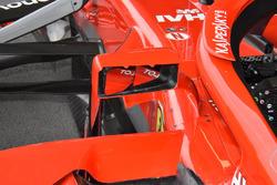 Ferrari SF71H detalle del retrovisor