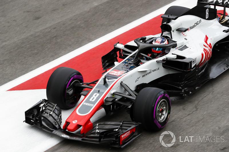 Ausfall: Romain Grosjean, Haas F1 Team VF-18 Ferrari