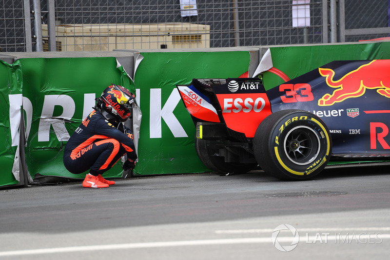 Accidente de Max Verstappen, Red Bull Racing RB14