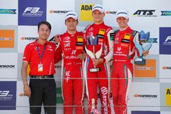 Podium: Race winner Ralf Aron, PREMA Theodore Racing Dallara F317 - Mercedes-Benz, second place Guanyu Zhou, PREMA Theodore Racing Dallara F317 - Mercedes-Benz, third place Mick Schumacher, PREMA Theodore Racing Dallara F317 - Mercedes-Benz