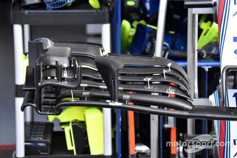 Detail sayap depan Williams FW41