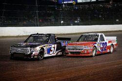 Logan Seavey, Kyle Busch Motorsports, Toyota Tundra Mobil 1 and Austin Self, AM Racing, Chevrolet Silverado GO TEXAN