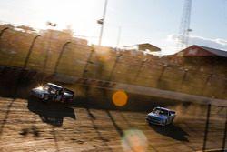Noah Gragson, Kyle Busch Motorsports, Toyota Tundra Safelite AutoGlass and Kyle Strickler, MB Motorsports, Chevrolet Silverado