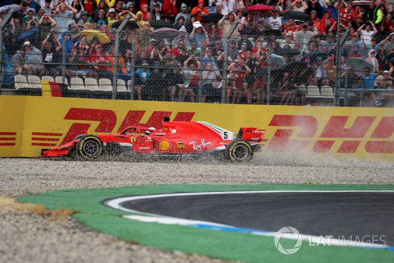 Авария Себастьяна Феттеля на Гран При Германии
