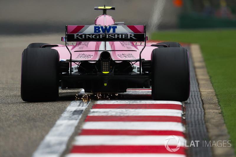 12: Esteban Ocon, Force India VJM11 Mercedes, 1'33.057