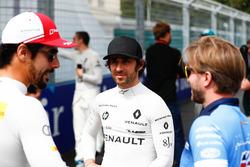 Nicolas Prost, Renault e.Dams, parla con Nick Heidfeld, Mahindra Racing, Lucas di Grassi, Audi Sport ABT Schaeffler