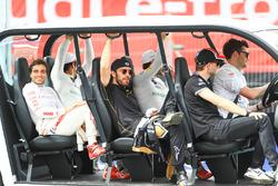 Lucas di Grassi, Audi Sport ABT Schaeffler, Jérôme d'Ambrosio, Dragon Racing, Daniel Abt, Audi Sport ABT Schaeffler, Jean-Eric Vergne, Techeetah, Maro Engel, Venturi Formula E Team, on the drivers parade