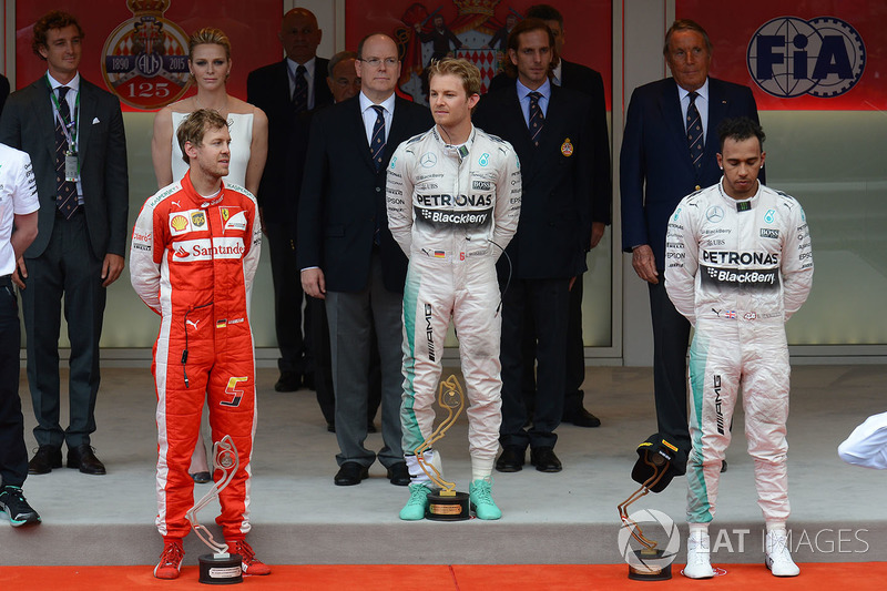 Podium of the 2015 Monaco Grand Prix