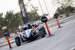 Mansour Chebli, driving the Ariel Atom Cup in ROC Factor Middle East