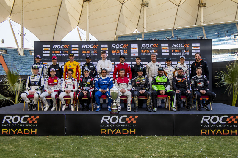 The family photo before the Race of Champions