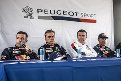 Press Conference, Sébastien Loeb, Carlos Sainz, Bruno Famin, Stéphane Peterhansel, Peugeot Sport