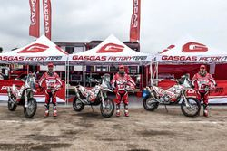 Jonathan Barragán, Johnny Aubert and Cristian España, GasGas Rally Team
