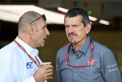 Bruno Michel and Guenther Steiner, Haas F1 Team Principal