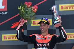 Podium : le troisième Marco Melandri, Aruba.it Racing-Ducati SBK Team