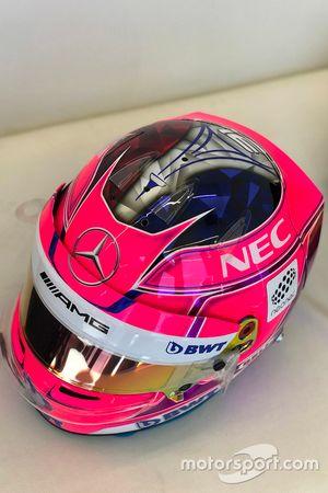 Le casque d'Esteban Ocon, Force India F1