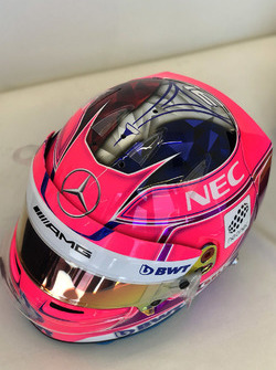 Helmet of Esteban Ocon, Force India F1