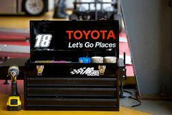 Riley Herbst, Joe Gibbs Racing, Toyota Camry Advance Auto Parts tool box