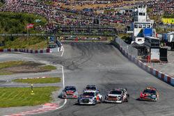 Start action, Mattias Ekström, EKS Audi Sport leads