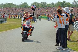 Race winner Nicky Hayden
