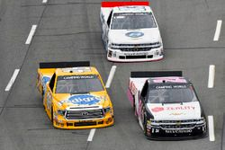 Justin Haley, GMS Racing Chevrolet, Todd Gilliland, Kyle Busch Motorsports Toyota and Patrick Emerling, Plan B Sales Chevrolet Silverado