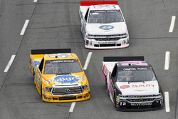 Justin Haley, GMS Racing Chevrolet, Todd Gilliland, Kyle Busch Motorsports Toyota and Patrick Emerling, Plan B Sales Chevrolet Silverado