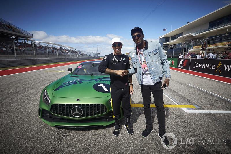 Usain Bolt fue copiloto de Lewis Hamilton, Mercedes AMG F1