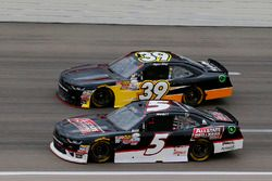 Michael Annett, JR Motorsports Chevrolet and Ryan Sieg, RSS Racing Chevrolet
