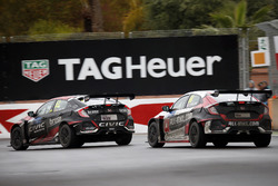 Бенжамен Лиссен, Honda Civic Type R TCR (FK8), Boutsen Ginion Racing, и Ян Эрлаше, Honda Civic Type