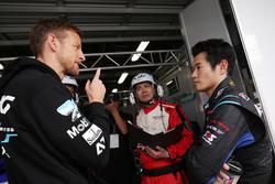 ジェンソン・バトンと山本尚貴:#100 RAYBRIG NSX-GT