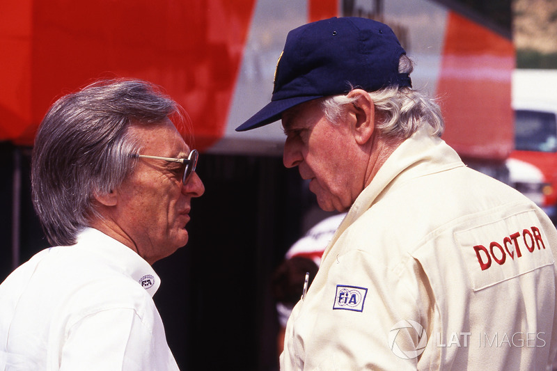 Bernie Ecclestone, y Sid Watkins doctor de FIA