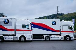 BMW Team trucks