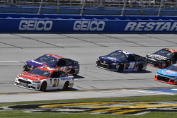 Paul Menard, Wood Brothers Racing, Ford Fusion Motorcraft / Quick Lane Tire & Auto Center, Denny Hamlin, Joe Gibbs Racing, Toyota Camry FedEx Express ed Erik Jones, Joe Gibbs Racing, Toyota Camry XYO Network