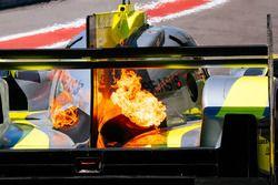 #4 ByKolles Racing Team Enso CLM P1/01: Oliver Webb, Dominik Kraihamer, Tom Dillmann, on fire