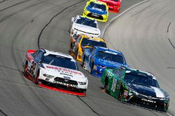Paul Menard, Team Penske, Ford Mustang Discount Tire and Daniel Suarez, Joe Gibbs Racing, Toyota Camry Juniper Networks