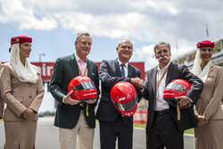 Sean Bratches, Formula One Managing Director, Commercial Operations and Chase Carey, Chief Executive Officer and Executive Chairman of the Formula One Group and Emirates presentation