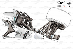 Mercedes W09 front top view