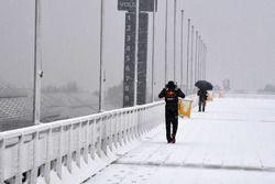 Sneeuw in Barcelona zorgt voor uitstel van de testdag