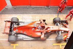 Kimi Raikkonen, Ferrari SF-71H, vista dall'alto