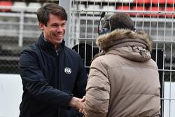 Christian Horner, Red Bull Racing Team Principal and Alan Van Der Merwe, FIA Medical Car Driver