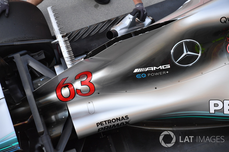 Mercedes-AMG F1 W09 motor kapağı