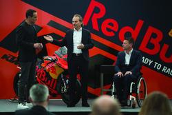 Hubert Trunkenpolz, Members of Board KTM, Pit Beirer, KTM Head of Motorsport with Alex Hofmann