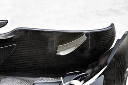 Mercedes-Benz F1 W08 detalle de ala delantera