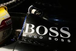 Hugo Boss logo on Lewis Hamilton, Mercedes AMG F1 car