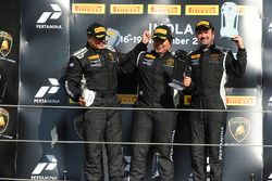 Podium NA-AM: first place Yuki Harata, Dream Racing Motorsport second place Emmanuel Anassis, DAC Motorsport, third place Ross Chouest, Antonelli Motorsport