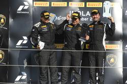 Podio NA-AM: al primo posto Yuki Harata, Dream Racing Motorsport al secondo postoEmmanuel Anassis, DAC Motorsport, al terzo posto Ross Chouest, Antonelli Motorsport
