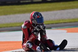 Aleix Espargaro, Aprilia Racing Team Gresini, après sa chute