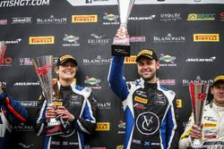 Podium: Race winners #75 Optimum Motorsport Aston Martin V12 Vantage GT3: Flick Haigh, Jonny Adam