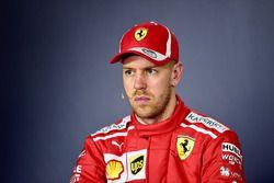 Sebastian Vettel, Ferrari en la rueda de prensa