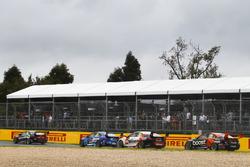 Anton De Pasquale, Erebus Motorsport Holden, leads Tim Blanchard, Brad Jones Racing Holden, Garth Ta